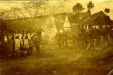 Průvod kolem Lazny - svěcení zvonu 1918